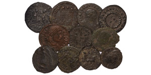 Ancient Roman Imperial Coins - Late Bronzes Group [11]