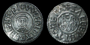 British Anglo-Saxon - Archbishops of Canterbury - Wulfred - Group II Monogram Penny - Sæbeorht