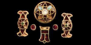 Merovingian Gold and Garnet Ornament Set