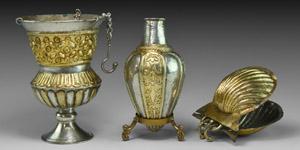 Byzantine Silver-Gilt Priests Altar Group