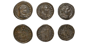 Ancient Roman Imperial Coins - Maximinus II and Licinius - Folles [3]