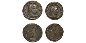 Ancient Roman Imperial Coins - Maximinus II - Genius Folles [2]