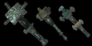 Anglo-Saxon - Three Cruciform Brooches