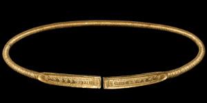 Scythian Gold Clad Ropework Torc
