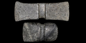 Prehistoric - North America - Stone Double-Bitted Axe and Axe Hammer