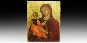 Medieval Veneto-Cretan Mother of God Icon