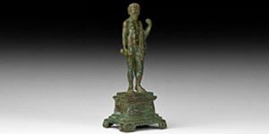Roman Statuette of Jupiter with Thunderbolt