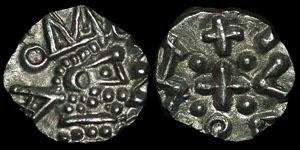 British Anglo-Saxon - Series D, Type 2c - Variant Sceatta