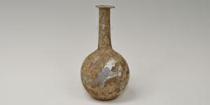 Roman - Bulbous Green Glass Bottle