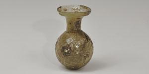 Late Roman - Eastern Meditterranean Mould-Blown Glass Sprinkler Flask