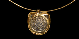 Byzantine Pendant with Gold Necklace