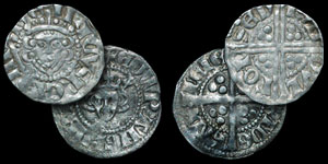 English Medieval - Henry III and Edward I Pennies - Bury St Edmunds Mint