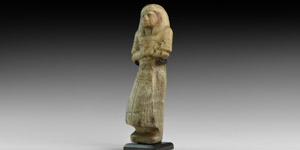 Egyptian Alabaster Shabti of a Noble