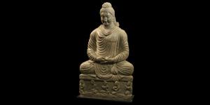 Gandharan Large Meditating Buddha
