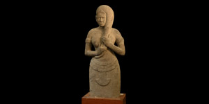 Large Khmer Statue of a Goddess