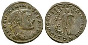 Ancient Roman Imperial Coins - Maximinus II - Jupiter Follis