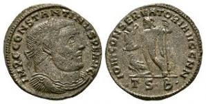 Ancient Roman Imperial Coins Constantine I (the Great) - Jupiter Follis