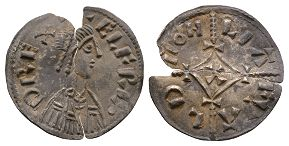 Anglo-Saxon Coins Alfred the Great - Liafwald - Cross-and-Lozenge Penny