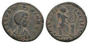 Ancient Roman Imperial Coins - Aelia Eudoxia - Victory Centenionalis