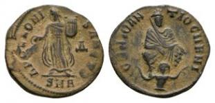 Ancient Roman Imperial Coins - Maximinus II - Anonymous Apollo Bronze