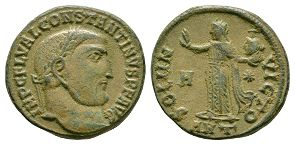 Ancient Roman Imperial Coins - Constantine I (the Great) - Sol Follis
