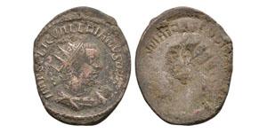 Ancient Roman Imperial Coins - Carinus - Obverse Brockage Antoninianus