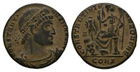 Ancient Roman Imperial Coins - Constantine I (the Great) - Victory Centenionalis