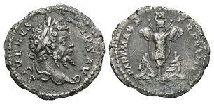Ancient Roman Imperial Coins - Septimius Severus - Trophy Denarius