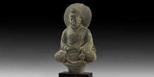 Gandharan Meditating Buddha Statue