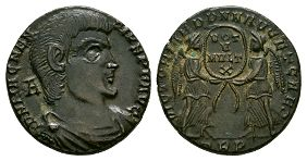 Ancient Roman Imperial Coins - Magnentius - Two Victories Centenionalis