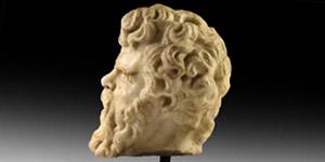 Roman Marble Head of Hercules