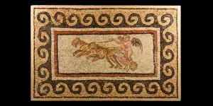 Roman Floor Mosaic with Charioteer
