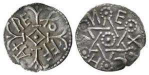 Anglo-Saxon Coins - Offa - East Anglia / Ecghun - Star of David Penny