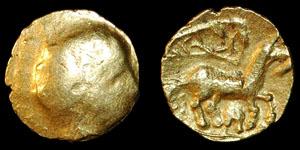 Celtic - Brackenheim Type - Gold Quarter Stater