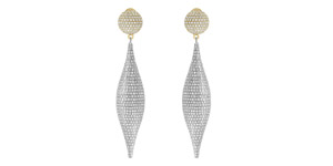 IGR Certified 8.00 Carat Round Diamond Drop Earrings Set in 18 Karat Gold