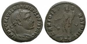 Ancient Roman Imperial Coins - Galerius Maximian - Genius Follis