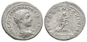 Ancient Roman Imperial Coins - Elagabalus - Victory Antoninianus