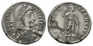 Ancient Roman Imperial Coins - Constantine II - Soldier Standing Light Milliarensis