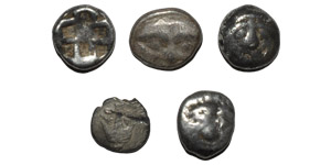 Ancient Greek Coins - Mysia - Parion - Gorgoneion  Units [5]