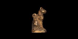Egyptian Gold Cat Amulet