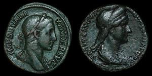 Roman Empire - Sabina and Severus Alexander - Sestertii