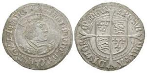 English Tudor Coins - Henry VIII - Profile Groat
