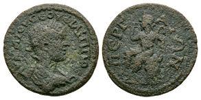 Ancient Roman Provincial Coins - Phillip II - Perga - Pamphilia - Pan Bronze