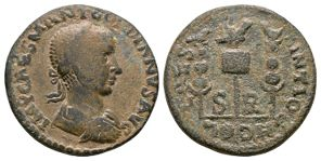 Ancient Roman Provincial Coins - Gordian III - Antioch Pisidia - Standards Bronze