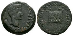 Ancient Roman Provincial Coins - Tiberius - Spain - Italica - Altar Dupondius