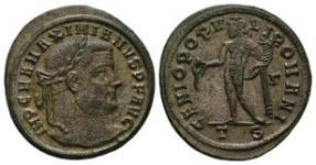 Ancient Roman Imperial Coins - Maximian - Genius Follis