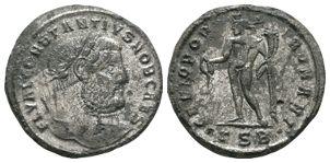 Ancient Roman Imperial Coins - Constantius I - Genius Follis