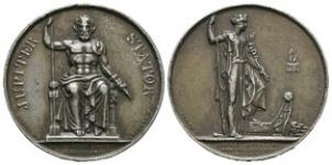 World Commemorative Medals - France - Napoleon - 1809 - Anvers Attack at Schoenbruun White Metal Medallion