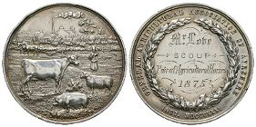British Award Medals - General Agricultural Association of Ayrshire - 1875 - Silver Prize Medal