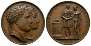 World Commemorative Medals - France - Napoleon - 1810 - Marriage to Maria Louisa of Austria Bronze Medallion